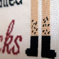 Make an Awesome Flight of the Conchords Cross-Stitched Artwork