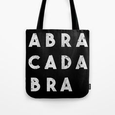 Whatcha got in that bag of tricks? Abracadabra Tote Bag • Little Gold Pixel #magic #witch #feminist #tote #totebag #halloween #goth #gothic