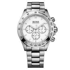 8062e07821d5 Hugo Boss HB 6030 For Men White Dial Stainless Steel Band Chronograph Watch  - 1512962