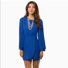 Brand-new dress from Tobi Royal blue colored, size small, never worn, new with tags. It has been in its wrapping that's why it is wrinkled. Please feel free to ask questions. Tobi Dresses
