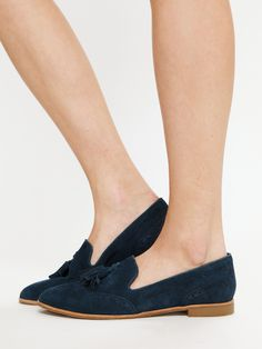 Dolce Vita navy suede loafers from Free People