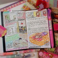Just saying, I'd love to have a diary like this but I really cannot be arsed to do that EVERY DAY. - more like I can't draw like that to save my life. But oh if i could...