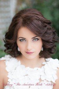Свадебная прическа на средние волосы, свадебная прическа на короткие волосы