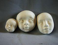 Paperclay doll face mask. $8.00, via Etsy.