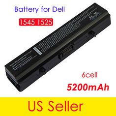 6 Cell Battery For Dell Inspiron 1525 1526 Vostro 500 GW240 GW252 J399N 5200mAh