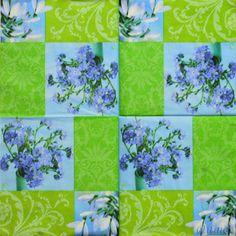 Купить салфетка для декупажа полевые цветы незабудки подснежники - салфетка для декупажа, салфетки декупажные