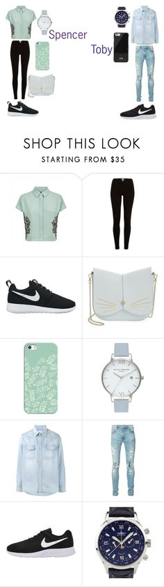 """Spoby"" by caitlinkansil on Polyvore featuring Jaeger, River Island, NIKE, Ted Baker, Casetify, Olivia Burton, Visvim, AMIRI, Balmer and Native Union"