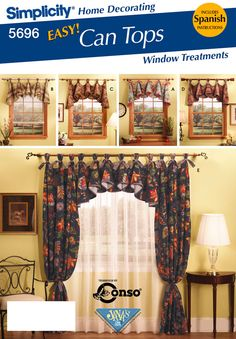 Circular Valance Window Treatments Patterns Simplicity Sewing