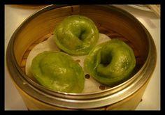 Spinach dumplings at Yank Sing