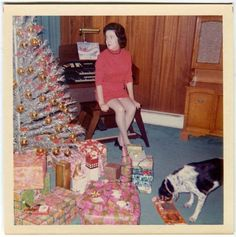 43 Interesting Vintage Snapshots Capture Middle-Aged Women Posing Next to Their Christmas Trees From the and vintage everyday Christmas Tree Store, Ghost Of Christmas Past, Silver Christmas Tree, Old Christmas, Old Fashioned Christmas, Merry Little Christmas, Retro Christmas, Xmas Tree, Christmas Holidays