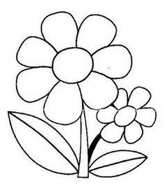 Flower coloring pages Wool Applique, Applique Patterns, Applique Quilts, Applique Designs, Flower Coloring Pages, Colouring Pages, Coloring Pages For Kids, Coloring Books, Doodle Drawings