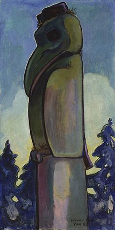 Indian Raven by Emily Carr, 1912 Tom Thomson, Canadian Painters, Canadian Artists, Emily Carr Paintings, Vancouver Art Gallery, Aboriginal Culture, Jackson, Impressionist Paintings, Indigenous Art