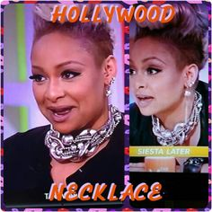 Hollywood is on today and I'm not talking about Raven Simone. Though she is truly rocking her Traci Lynn Necklace beautifully!! She sees the beauty in Traci Lynn... don't forget to get your too.  www.tracilynnjewlery.net/elainasmith  SHOP NOW!!!  #TLFJ #TL4L #EyeCandy #Love #hollywood #ravensimone #theview #necklace