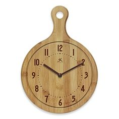 The perfect clock for your kitchen, this butcher-block timepiece has large numbers so you can use it to keep an eye on cooking times.