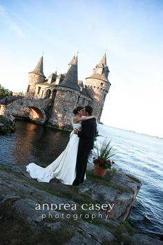 Boldt Castle Wedding in Alexandria Bay, NY ~ The castle, located on Heart Island (1000 Islands), is accessible as a venue for both Canadian & American couples / Andrea Casey Photography