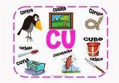 Maestra de Primaria: Palabras con CA, CO, CU, QUE, QUI. Palabras cartel para el aula.