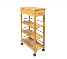 WOODLUV Slimline Space Saver Bamboo Wooden Kitchen Islands Storage Trolley Cart for sale online Kitchen Storage Trolley, Kitchen Island Cart, Diy Kitchen Storage, Kitchen Islands, Kitchen Trolley Design, Island Table, Kitchen Organization, Organizing, Cutlery Storage