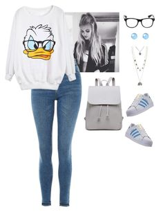 """""""Donald Duck"""" by air1397 on Polyvore featuring Topshop, adidas, Aéropostale, disney and DonaldDuck"""