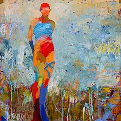 Jylian Gustlin - Caelum: Figures Contemporary Artist - Figurative Painting