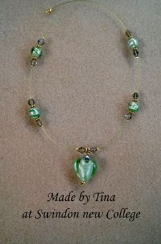 Floating necklace made by Tina at Swindon New College.