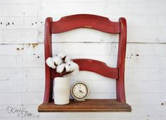 Repurposed Chair Shelf created from Salvaged Chair by KnickofTime