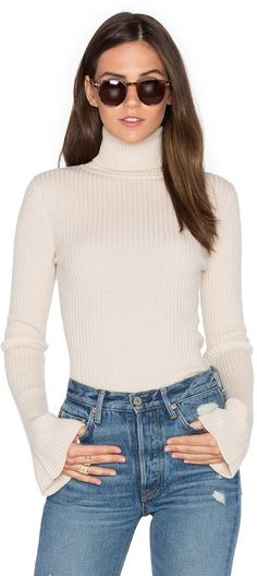 Autumn Cashmere x REVOLVE Ribbed Turtleneck Bell Sleeve Sweater on ShopStyle