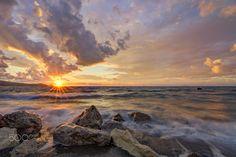 Sunset - Magic light at sunset   Brolo beach, Italy