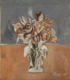 Roses (Rose), 1917  Oil on canvas, 58 x 50 cm  Gianni Mattioli Collection  Long-term loan to the Peggy Guggenheim Collection, Venice