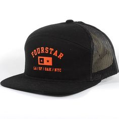 c3ab35559f7 Fourstar Ath Bar 6-Panel Snapback Hat (Black)  22.95