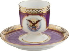 Lincoln White House service  38146: Ulysses S. Grant: White House Demi-tasse Cup & S : Lot 38146