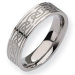 Wedding Band for him! Titanium Celtic Knot 6mm Satin and Polished Comfort Fit Wedding Band