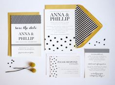 All-Inclusive Wedding Suite // Invitation // Response Cards // Envelopes // Envelope Liners //  Postage on Etsy, $50.00