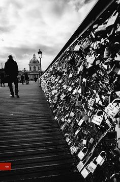 So in love with this bridge. All this love scelled  for ever  Pont des arts - Stay at hour hotel in Paris, visit http://hotelmareuil.com