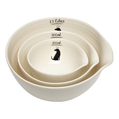 Loveable labrador themed nesting bowls