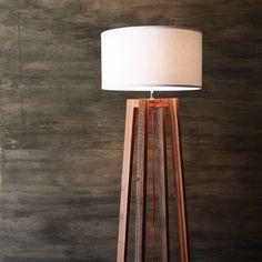 Modern A-frame Floor Lamp- Reclaimed Wood Light- Rustic Modern Lighting- Wood Frame Lamp- Woven Shade- Living Room Lighting- FREE SHIPPING by weareMFEO on Etsy https://www.etsy.com/listing/158717610/modern-a-frame-floor-lamp-reclaimed-wood