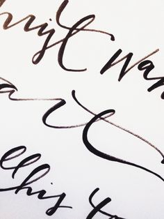 modern calligraphy / lettering