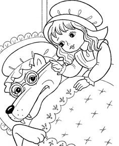 children activities, more than 2000 coloring pages Coloring Pages To Print, Coloring For Kids, Coloring Pages For Kids, Coloring Sheets, Coloring Books, Wolf, Window Art, Red Riding Hood, Digital Stamps