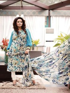 Zahra Lawn Collection 2013 by House of Chenab 005