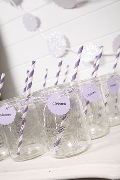 jars + striped straws