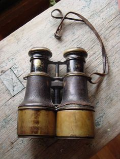 Nautical Instruments - Antique Ship /Navy Binoculars by Iris de Paris ...