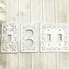 Light Switch Plate, Light Switch Cover, Cast Iron Switchplate, Metal Light Switch Cover, Fleur de lis Light Switch, French Country Cottage