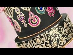 TUTORIAL: How to bedazzle your cake using Edible lace & Jewels Brush Embroidery Cake, Edible Diamonds, Jewel Cake, Candy Videos, Edible Lace, Sugar Lace, How To Make Icing, Cake Smash Photography, Fashion Cakes