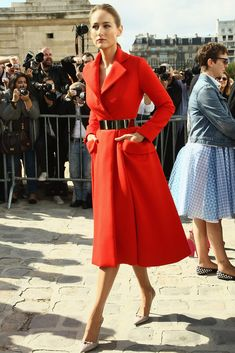 Very chic street style at Paris Fashion Week; Leelee Sobieski in Dior.
