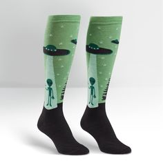 SOCK IT TO ME alien knee socks