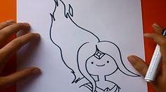 como dibujar a la princesa flama - YouTube