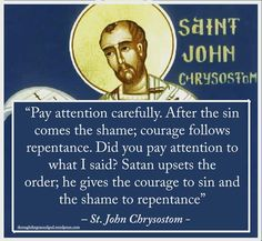 On sin and shame and repentance.