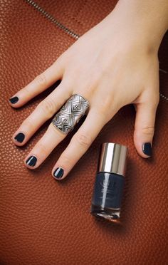 A dark jewel tone manicure is great for fall. I can't get enough of this color found at Ulta Beauty.