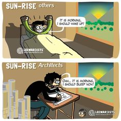 Webcomics Reveal the Differences Between Architects and Everyone Else - Funny Webcomic Illustrates How Architects Experience Everyday Life -Funny Webcomics Reveal the . Architecture Memes, Architecture Sketchbook, Architecture Collage, Architecture Wallpaper, Architecture Graphics, Architecture Portfolio, Concept Architecture, Computer Architecture, System Architecture