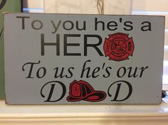 Firefighter Gift for Dad My Greatest Firefighter Crafts, Firefighter Family, Wildland Firefighter, Fathers Day Presents, Fathers Day Crafts, Gifts For Dad, Diy Father's Day Gifts, Fun Hobbies, Romantic Gifts