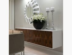 Furniture Mind - Contemporary Furniture | Modern Furniture - City, Four Door Sideboard in White High Gloss